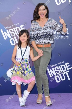 "Actress Constance Marie and daughter Luna Marie Katich arrive at the LA Premiere Of ""Inside Out"" held at the El Capitan Theatre, in Los Angeles"