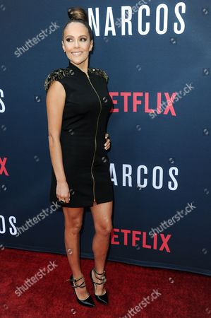 """Cristina Umana attends the LA Premiere of """"Narcos"""" Season Two held at ArcLight Cinemas Hollywood, in Los Angeles"""