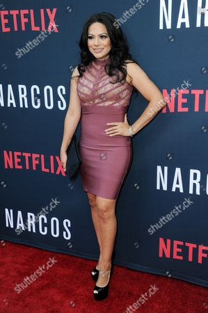 "Helen Ochoa attends the LA Premiere of ""Narcos"" Season Two held at ArcLight Cinemas Hollywood, in Los Angeles"