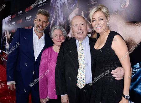 "From left to right, producer Lawrence Elman, producer Ileen Maisel, writer Julian Fellowes, producer Nadja Swarovski arrive on the red carpet at the premiere of the feature film ""Romeo and Juliet"" at the ArcLight Hollywood on in Los Angeles"