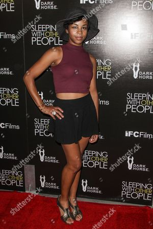 """Aasha Davis attends the premiere of """"Sleeping with Other People"""" at Arclight Hollywood on in Los Angeles"""