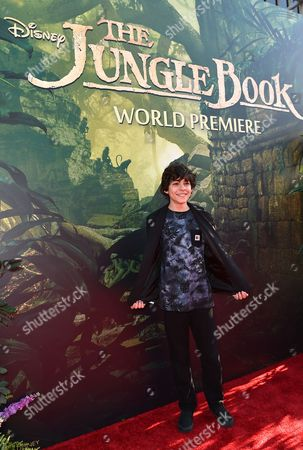 "Emjay Anthony arrives at the premiere of ""The Jungle Book"" at the El Capitan Theatre, in Los Angeles"