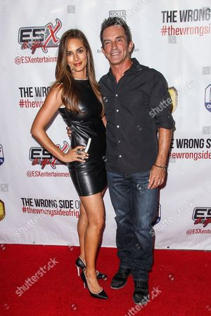 "Lisa Russell and Jeff Probst attend the premiere of ""The Wrong Side of Right"" at the TCL Chinese Theater, in Los Angeles"