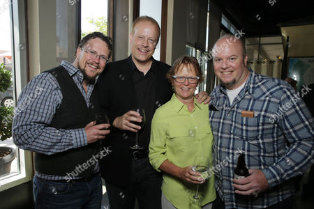 Director Kris Pearn, Producer Kirk Bodyfelt, Producer Pam Marsden and Director Cody Cameron seen at the after party of the Columbia Pictures and Sony Pictures Animation premiere of 'Cloudy with a Chance of Meatballs 2' held at the Regency Village Theatre on Saturday, Sept, 21, 2013 in Los Angeles