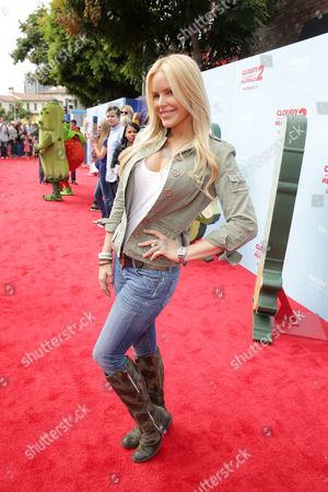 Gena Lee Nolin seen on the red carpet at the Columbia Pictures and Sony Pictures Animation premiere of 'Cloudy with a Chance of Meatballs 2' held at the Regency Village Theatre on Saturday, Sept, 21, 2013 in Los Angeles