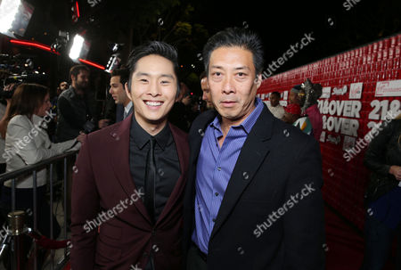 """Justin Chon and Francois Chau arrive at the LA premiere of """"21 and Over"""" at the Westwood Village Theatre on in Los Angeles"""
