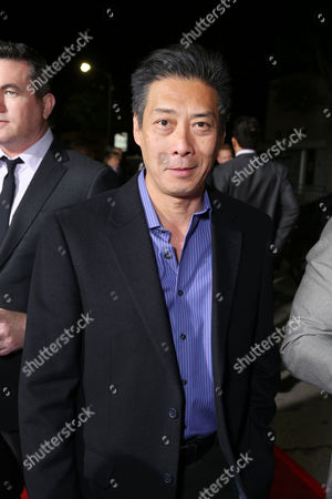 """Stock Photo of Producer Francois Chau arrives at the LA premiere of """"21 and Over"""" at the Westwood Village Theatre on in Los Angeles"""