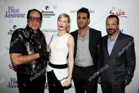 """From left, Andrew Dice Clay, Cate Blanchett, Bobby Cannavale, and Peter Sarsgaard pose together on the red carpet at the LA Premiere of """"Blue Jasmine"""" at the Academy of Motion Pictures Arts and Sciences on in Los Angeles"""