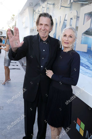 """Leonard Nimoy and wife Susan Bay arrive at the LA premiere of """"Star Trek Into Darkness"""" at The Dolby Theater on in Los Angeles"""
