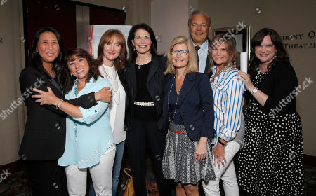 Sung Poblete, Sue Schwartz, Rusty Robertson, Sherry Lansing, Pamela Williams, Dr. Dennis Slamon, Lisa Paulsen and Kathleen Lobb attend a Stand Up To Cancer hosted screening of Lee Daniels' The Butler to benefit the Laura Ziskin Prize, on in Los Angeles