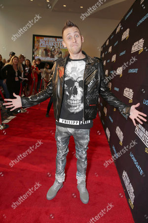 "Writer/Director/Producer/Actor Roman Atwood seen at Lionsgate Los Angeles Premiere of ""Natural Born Pranksters"" at Regal L.A. LIVE, in Los Angeles"