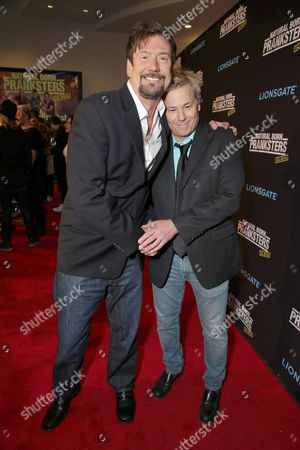 """Tom Mabe and Kato Kaelin seen at Lionsgate Los Angeles Premiere of """"Natural Born Pranksters"""" at Regal L.A. LIVE, in Los Angeles"""