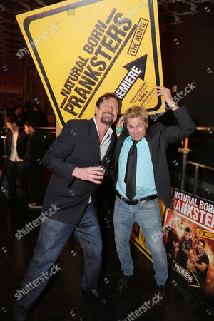 """Tom Mabe and Kato Kaelin seen at Lionsgate Los Angeles Premiere of """"Natural Born Pranksters"""" after party at Regal L.A. LIVE, in Los Angeles"""