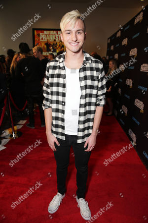 "Lucas Cruikshank seen at Lionsgate Los Angeles Premiere of ""Natural Born Pranksters"" at Regal L.A. LIVE, in Los Angeles"