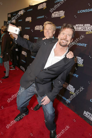 """Stock Picture of Tom Mabe and Kato Kaelin seen at Lionsgate Los Angeles Premiere of """"Natural Born Pranksters"""" at Regal L.A. LIVE, in Los Angeles"""