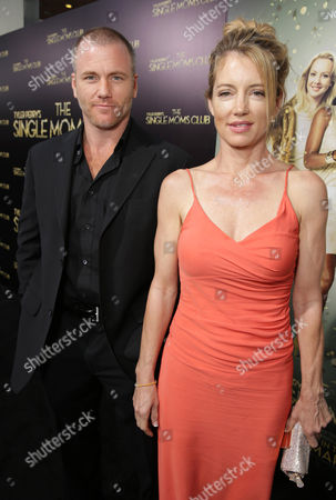 Sean Carrigan and Cynthia Watros seen at The World Premiere of TYLER PERRY'S 'The Single Moms Club' presented by Lionsgate on in Los Angeles