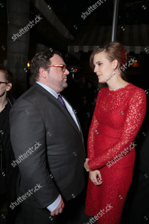 Director Ross Katz and Maggie Grace seen at Lionsgate's Los Angeles Special Screening of 'The Choice' at Arclight Hollywood, in Hollywood, CA