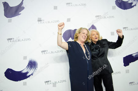 """Edie Windsor and Roberta Kaplan attend Logo TV's """"Trailblazers"""" pride event at The Cathedral of St. John the Divine on in New York"""