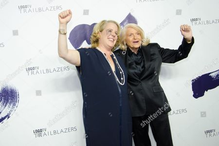 """Edie Windsor and Roberta Kaplan attend Logo TV's """"Trailblazers"""" pride event at The Cathedral of St. John the Divine, in New York"""