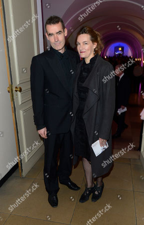 Rufus Norris, Tanya Ronder poses at London Film Festival Awards 2012 at Banqueting House on in London
