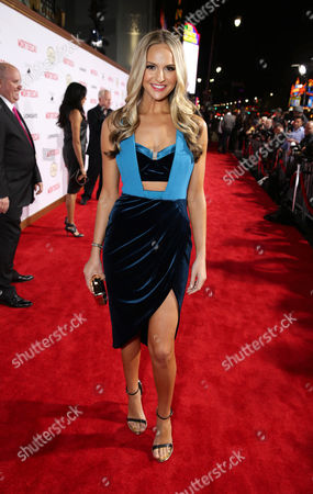 """Stock Photo of Jackie Marin seen at the Los Angeles Premiere of Lionsgate's """"Mortdecai"""" on Wed, in Hollywood"""