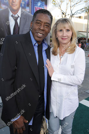 Ernie Hudson and Linda Kingsberg seen at Los Angeles Premiere of Summit Entertainment's 'Draft Day,' on in Westwood, CA