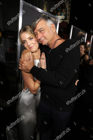"""Annabelle Wallis and Director John R. Leonetti seen at the Los Angeles Special Screening of New Line Cinema's """"Annabelle"""", in Hollywood"""