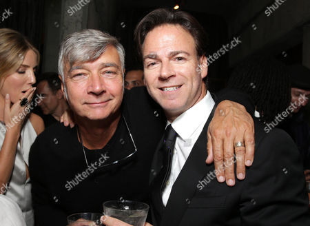 """Director John R. Leonetti and Producer Peter Safran seen at the Los Angeles Special Screening of New Line Cinema's """"Annabelle"""", in Hollywood"""
