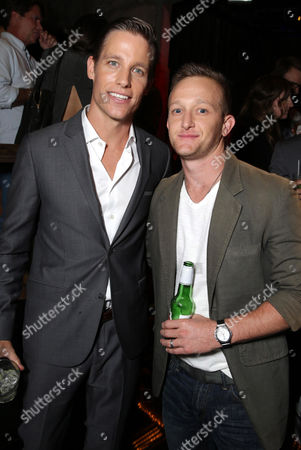 """Ward Horton and Eric Ladin seen at Los Angeles Special Screening of New Line Cinema's """"Annabelle"""", in Hollywood"""