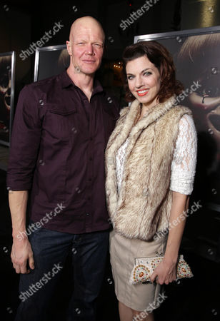 """Derek Mears and Jenny Brezinski seen at the Los Angeles Special Screening of New Line Cinema's """"Annabelle"""", in Hollywood"""