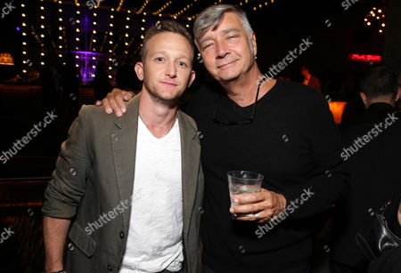"""Eric Ladin and Director John R. Leonetti seen at Los Angeles Special Screening of New Line Cinema's """"Annabelle"""", in Hollywood"""