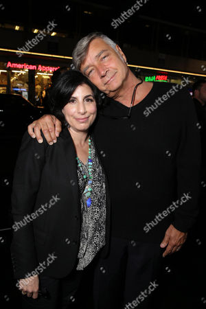 """Sue Kroll, President of Worldwide Marketing and International Distribution at Warner Bros. Pictures and Director John R. Leonetti seen at the Los Angeles Special Screening of New Line Cinema's """"Annabelle"""", in Hollywood"""