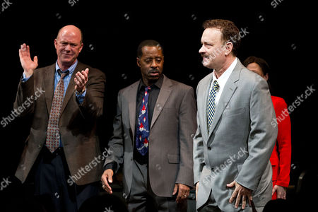 Michael Gaston, Courtney B. Vance, and Tom Hanks performs at the Lucky Guy Opening Night, on monday, April, 01, 2013 in New York, NY