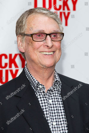 Mike Nichols arrives at the Lucky Guy Opening Night, on monday, April, 01, 2013 in New York, NY