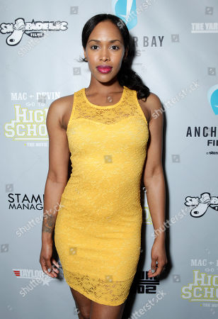 Shvona Lavette Chung arrives at the Mac and Devin Go to High School DVD Preview featuring Snoop Dogg and Wiz Khalifa on in Los Angels