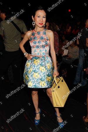 Chiu-Ti Jansen seen at MBFW Spring/Summer 2015 - Anna Sui at Lincoln Center on in New York