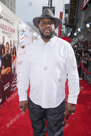 """Jamal Woolard seen at Metro Goldwyn Mayer and New Line Cinema Premiere of """"Barbershop: The Next Cut"""" at TCL Chinese Theatre, in Hollywood"""
