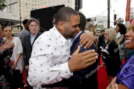 "Anthony Anderson and Producer Robert Teitel seen at Metro Goldwyn Mayer and New Line Cinema Premiere of ""Barbershop: The Next Cut"" at TCL Chinese Theatre, in Hollywood"
