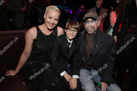 Stock Picture of Abbie Cornish, John Paul Ruttan and Jackie Earle Haley seen at Metro-Goldwyn-Mayer and Columbia Pictures Los Angeles premiere of 'Robocop', on Monday, Feb, 10, 2014 in Los Angeles