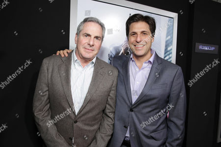 Producer Roger Birnbaum and President, Motion Picture Group for MGM Jonathan Glickman seen at Metro-Goldwyn-Mayer and Columbia Pictures Los Angeles premiere of 'Robocop', on Monday, Feb, 10, 2014 in Los Angeles