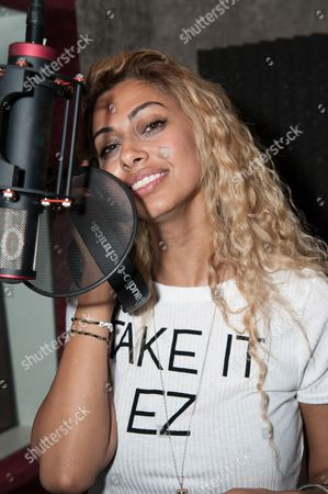 """Sonna Rele attends Reggie Benjamin's """"Mission Save Her"""" recording session, in Los Angeles"""
