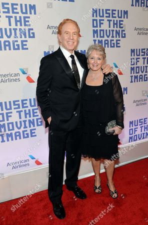 Alan Kalter and wife Peggy attend the Museum of the Moving Image salute to Kevin Spacey on in New York