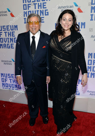 Tony Bennett and daughter Joanna Bennett attend the Museum of the Moving Image salute to Kevin Spacey on in New York