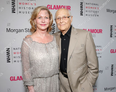Lyn Davis and Norman Lear seen at the 3rd Annual Women Making History Brunch presented by the National Women's History Museum and Glamour Magazine at the Skirball Cultural Center, in Los Angeles, Calif