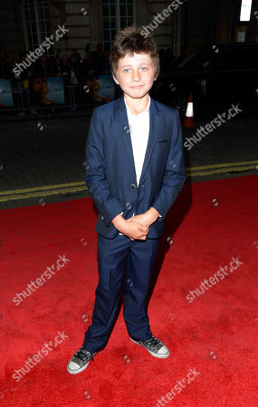 Edgar Canham poses at Now is Good European Premiere at The Washington Hotel on in London