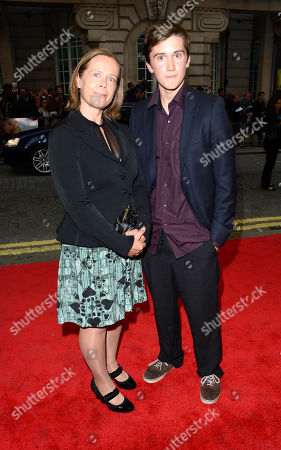 Jenny Downham, Louis Hill poses at Now is Good European Premiere at The Washington Hotel on in London