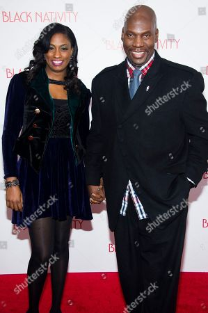 "Jewel Tankard and Ben Tankard attend the ""Black Nativity"" premiere on Monday, Nov.18, 2013 in New York"