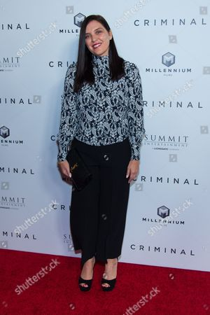 """Actress Gisella Marengo attends the premiere of """"Criminal"""" at AMC Loews Lincoln Square, in New York"""
