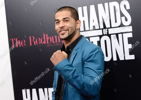 "Professional boxer Sadam Ali attends the U.S. premiere of ""Hands of Stone"" at the SVA Theatre, in New York"