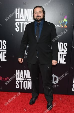 """Stock Image of Director and screenwriter Jonathan Jakubowicz attends the U.S. premiere of """"Hands of Stone"""" at the SVA Theatre, in New York"""